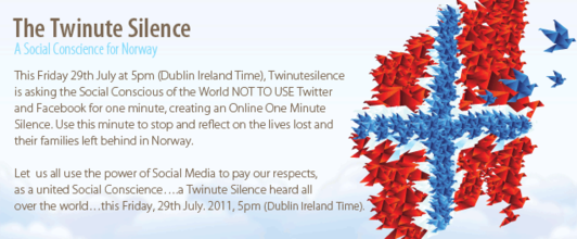 #Twinutesilence for Norway victims