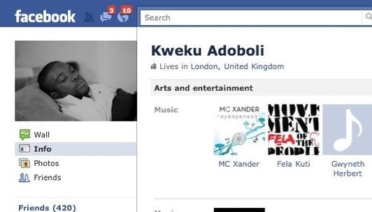 Arrested UBS trader Adoboli's online presence