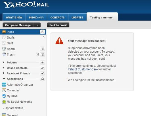 Yahoo!: Spam filter blocked Wall Street protest emails