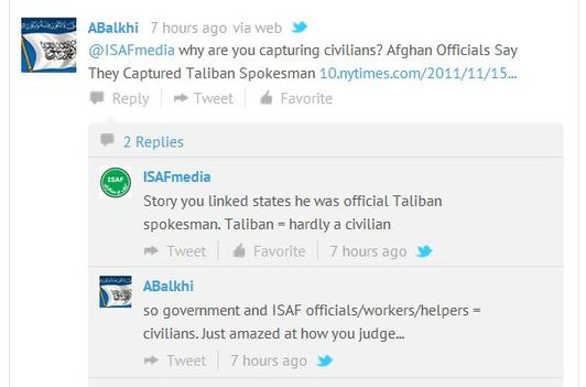 War of words: ISAF and Taliban in Twitter row