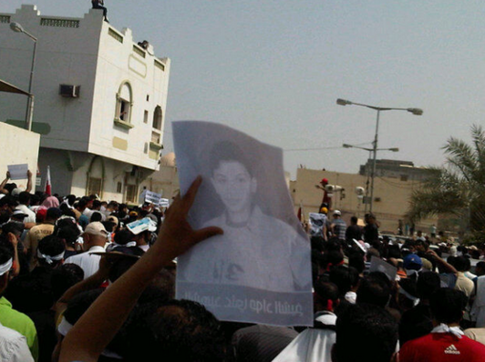 Teen slain in Bahrain protest laid to rest
