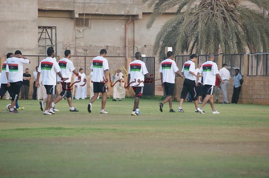 Libya soccer team gets new kit for Mozambique game