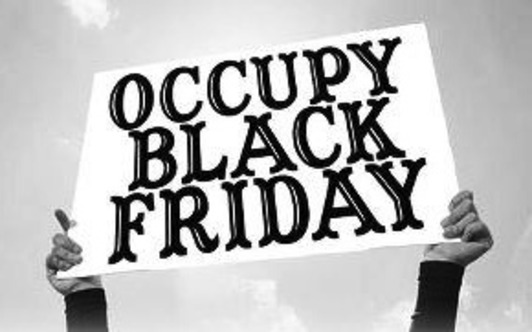 Protesters fight consumer frenzy in #occupyblackfriday