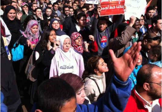 Mass marches mark birth of Egypt's #Jan25 revolution