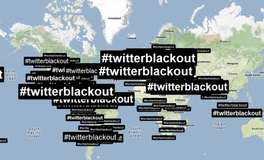 Twitter users protest censorship with #Twitterblackout