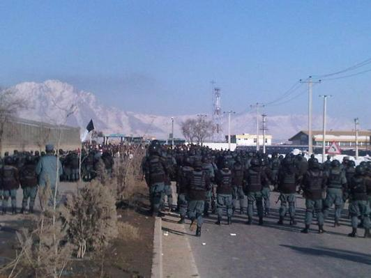 Protesters surround UN office in Afghanistan in fifth day of violence