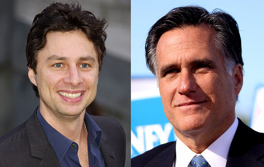 Zach Braff and Mitt Romney 'related through a witch'