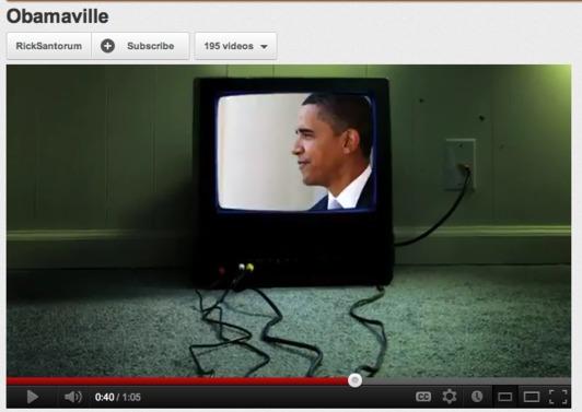 Santorum ad slips Obama's face into Ahmadinejad montage