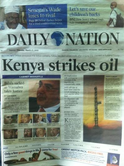 british firm dicovers oil in kenya