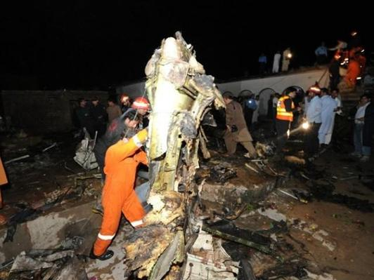 Pakistan plane crashes, killing over 100
