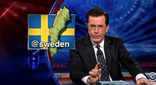 Should Stephen Colbert be the next @Sweden?