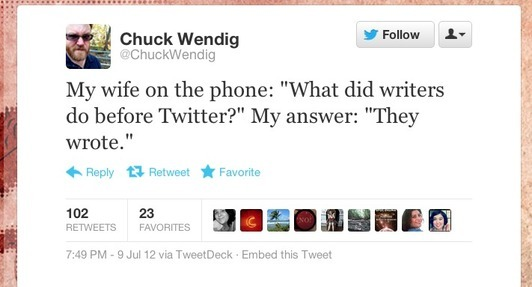 Writers on Twitter: Read novelists in 140 characters or less