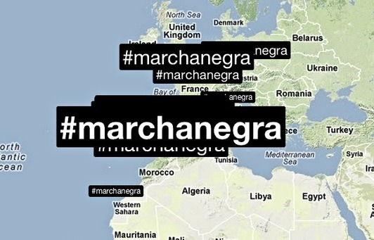 La #marchanegra: Social media and the Spanish miners