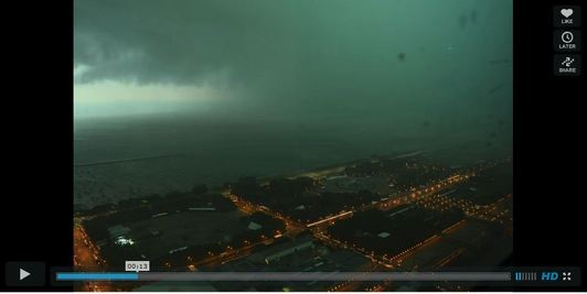 Storm rolls in over Lollapalooza music festival