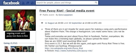 The world applauds Russia's #pussyriot