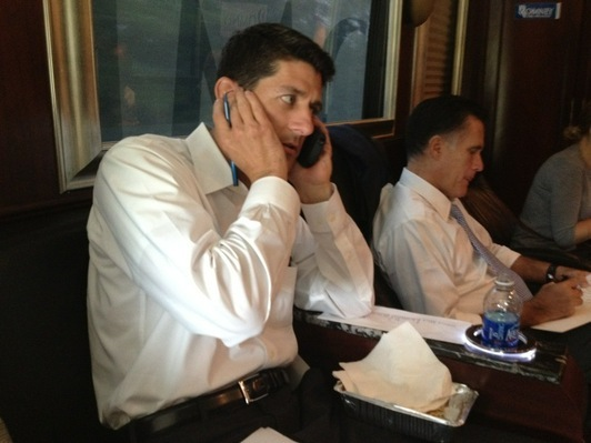 #RomneyRyan2012: Mitt's 'body man' captures Ryan and Romney on the bus