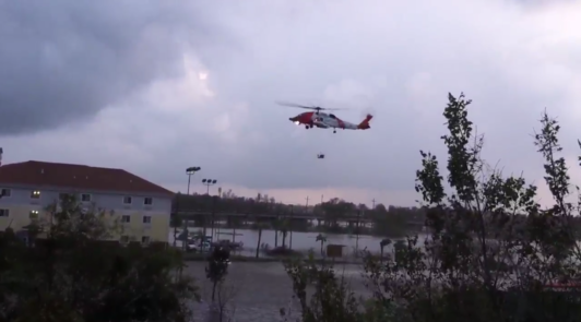 Coast Guard helicopter comes to the rescue