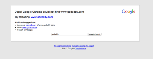 Anonymous member claims takedown of GoDaddy.com