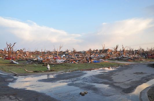 Joplin before and after the tornado