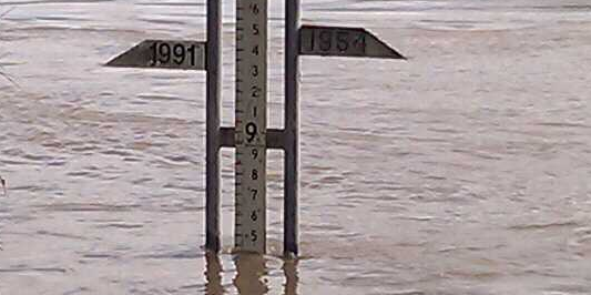 water marker from Brisbane floods