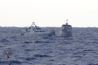 IDF navy boards #FreedomWaves boats off Gaza