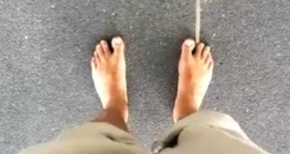 Barefoot and van