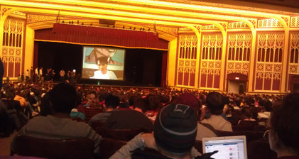 Aung San Suu Kyi Skypes US students