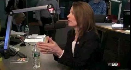Bachmann fights back after boy's defense of gay mother