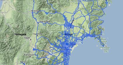 Google Street View maps Japan tsunami damage