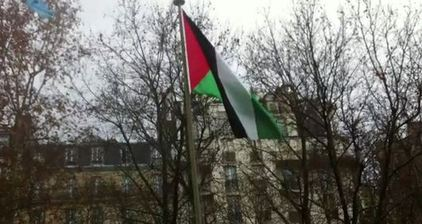 Palestinian flag raised at UNESCO headquarters