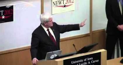 Gingrich gets heckled over infidelities at Iowa stop