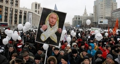 Comrade Putin becomes Comrade Condom as masses protest