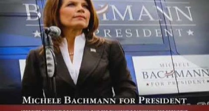Bachmann casts herself as 'America's Iron Lady'