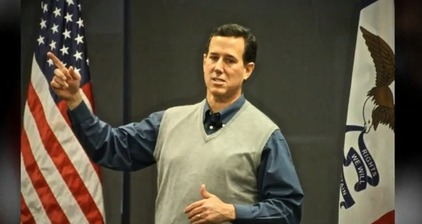 Santorum's sweater vest storms social media