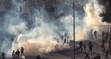 Toxic tear gas rains on Bahraini protesters