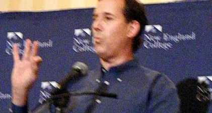 Rick Santorum compares gay marriage to polygamy