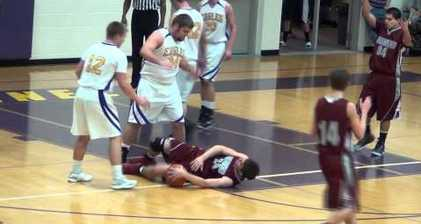 Basketball player gets a rough ride over viral video