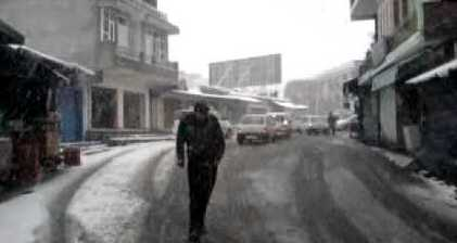 Freak snowfall startles northern India