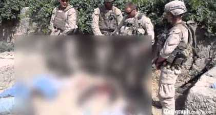 Hunt on for US marines filmed urinating on corpses