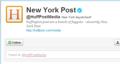 Huff Post and Ashton Kutcher get hacked on Twitter