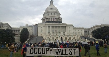 Protesters convene at US Capitol to #OccupyCongress
