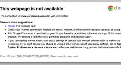 Hackers target Justice Dept and Universal Music sites
