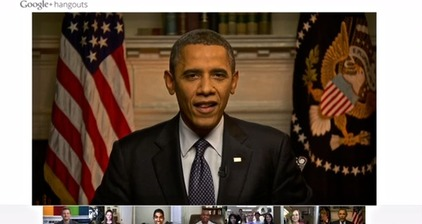 Obama takes part in Google+ Hangout