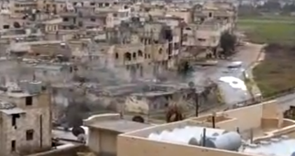 Homes in Baba Amr destroyed