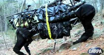 Military robodog goes walkies in the woods