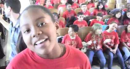 New York fifth graders pay tribute to Whitney Houston
