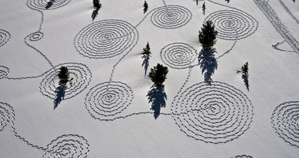 Snow designs turn winter landscape into art