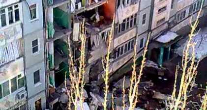Astrakhan gas explosion triggers deadly collapse