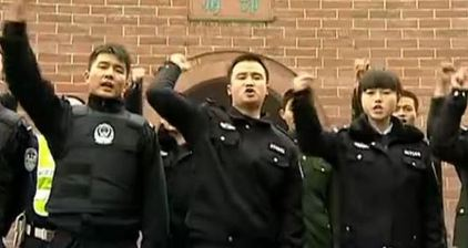 Chinese police getting jiggy with it for rap song