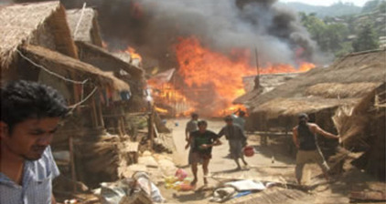 Thousands displaced after fire at refugee camp